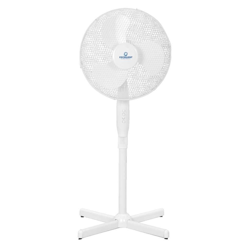 Deze staande ventilator biedt verkoeling op warme dagen. Is het warm en wil je graag een fris windje? Zet dan deze ventilator aan en geniet van een verkoelend en verfrissend briesje.