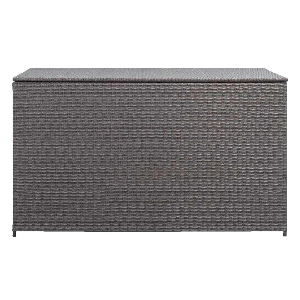 Le Sud kussenbox - antraciet - 155x80x90 cm - Leen Bakker