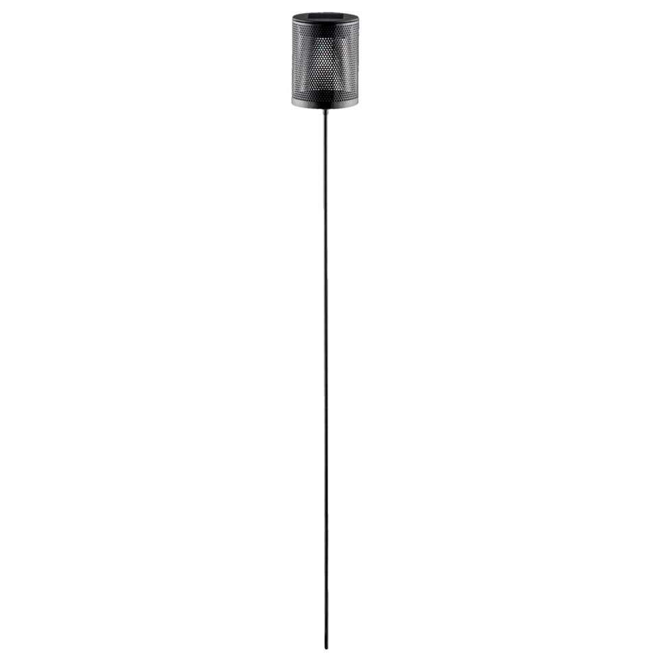 Solarlamp buitenlamp tuinsteker - zwart - 80x8 cm