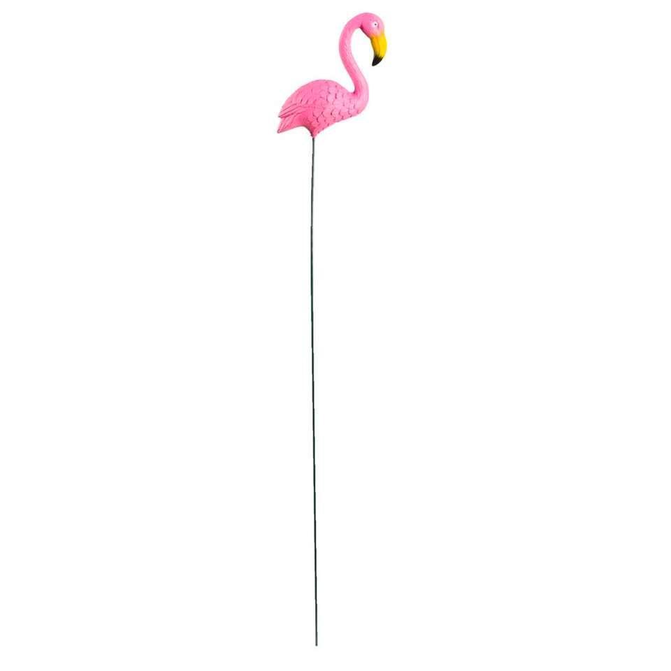 Tuinsteker Flamingo - roze - 63x4x14 cm