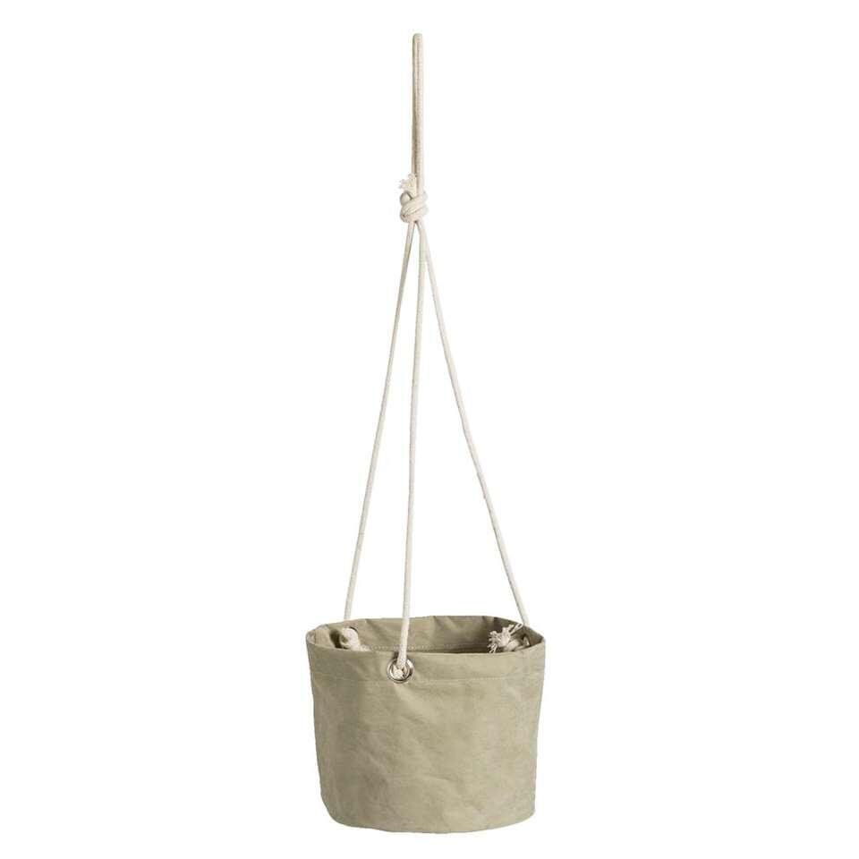Bloempot Noor hangend - lichtgroen - 17xØ18 cm - Leen Bakker