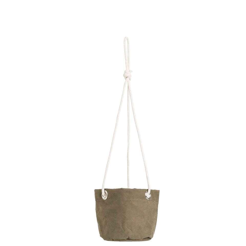 Bloempot hangend Noor - donkergroen - 12xØ13 cm - Leen Bakker