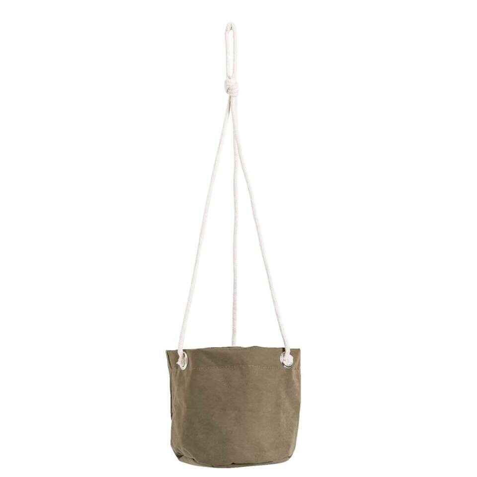Bloempot hangend Noor - donkergroen - 14xØ15 cm - Leen Bakker