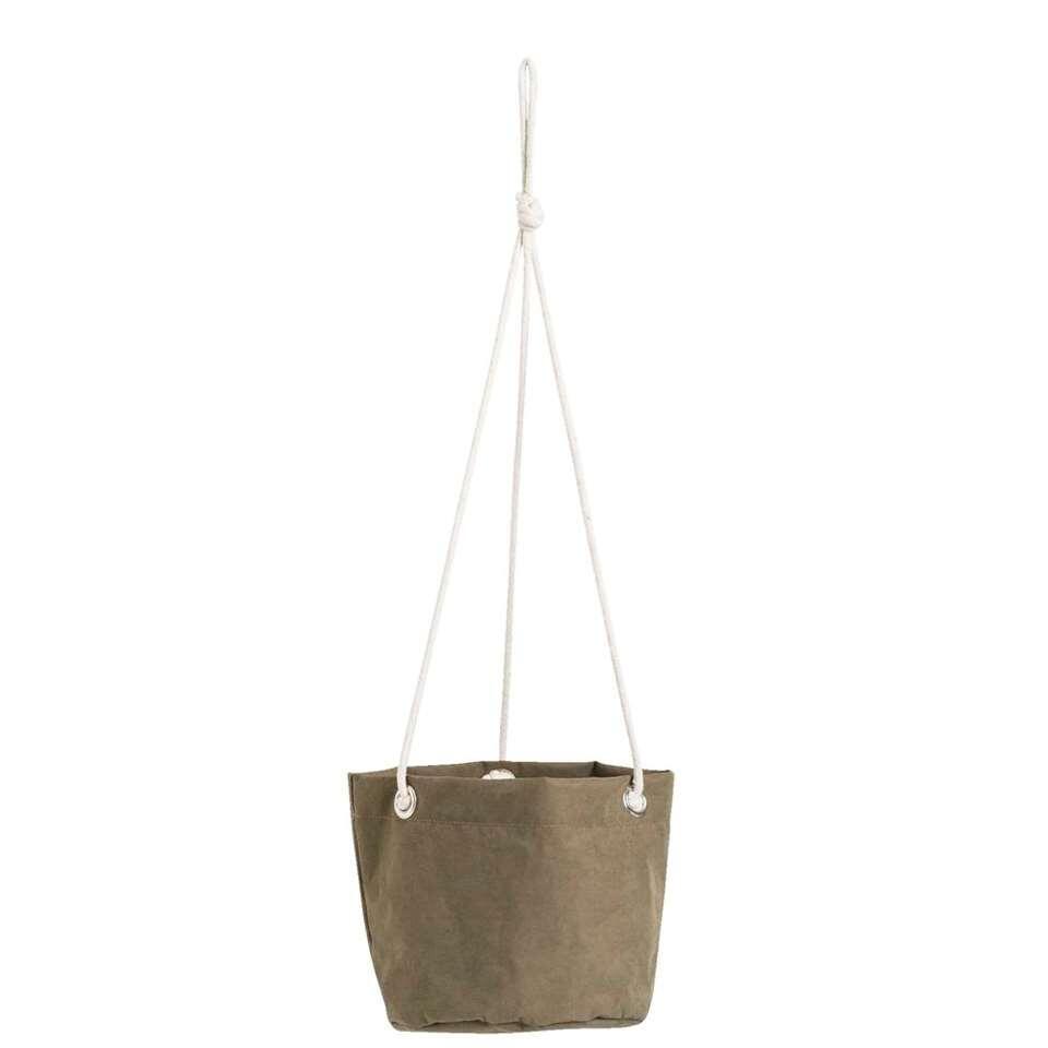 Bloempot hangend Noor - donkergroen - 17xØ18 cm - Leen Bakker