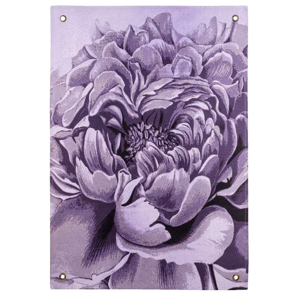 Wandkleed Bloemen - paars - 112x80 cm - Leen Bakker