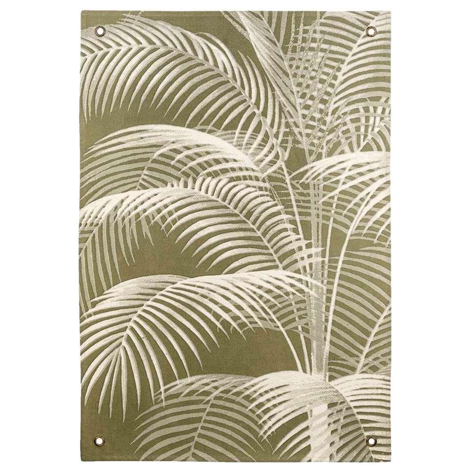 Wandkleed Palmen - groen - 112x80 cm - Leen Bakker