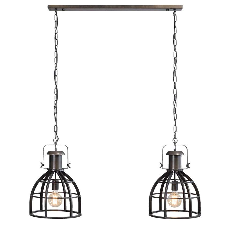 Hanglamp Thom 2 - antiek zwart - 138x115x34 cm