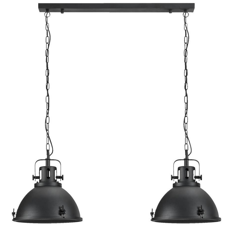 Hanglamp Carlos - zwart - 120x90x38 cm