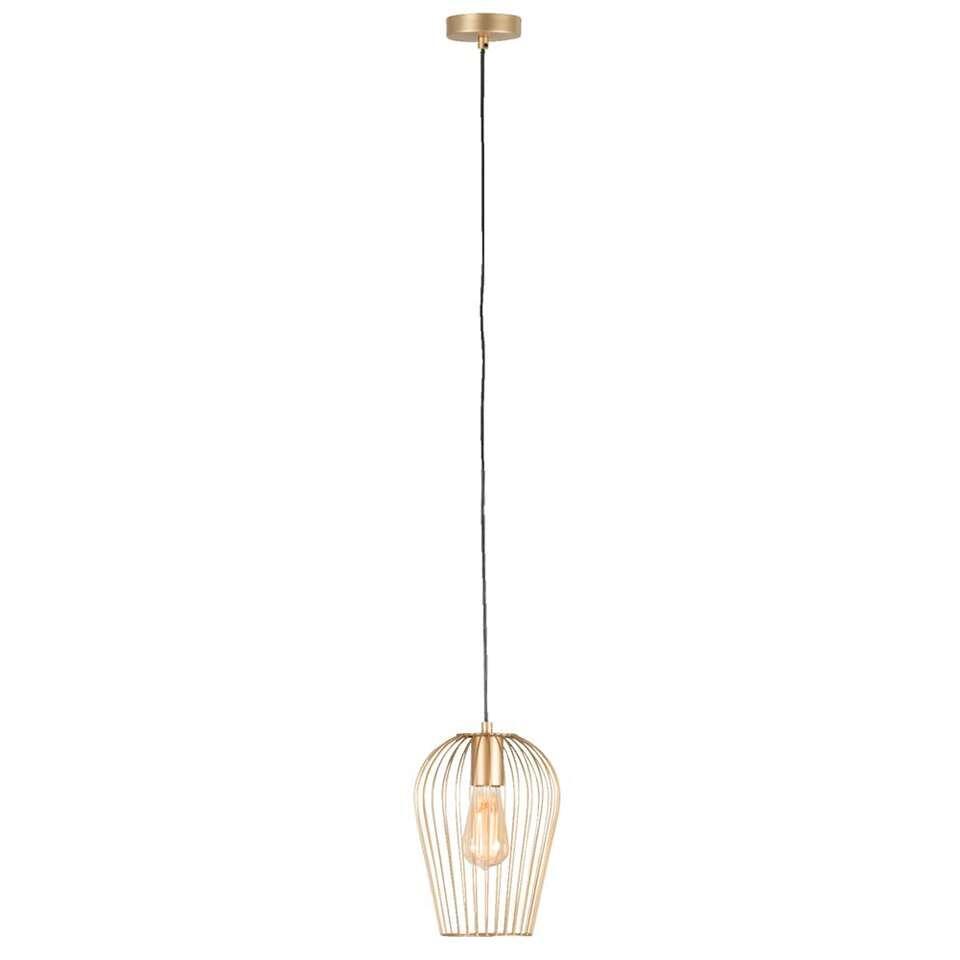 Hanglamp Lagos - goudkleurig - Ø19 cm - Leen Bakker