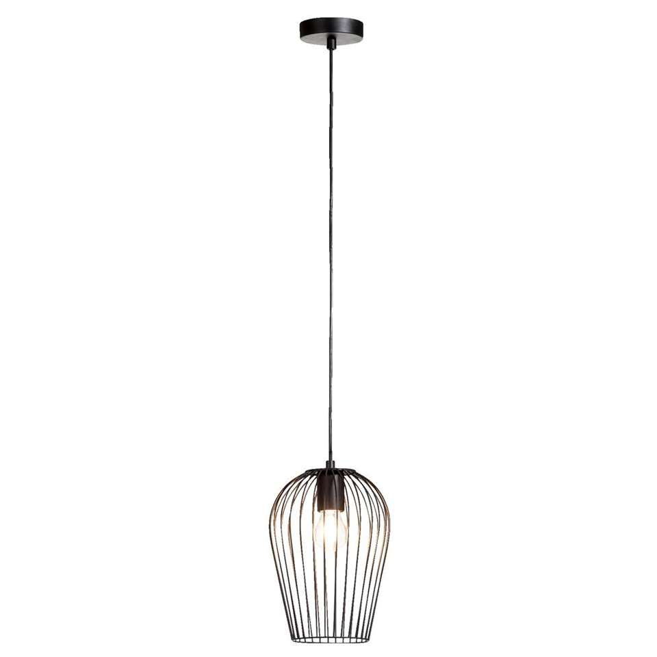 Hanglamp Lagos - mat zwart - 19 cm - Leen Bakker