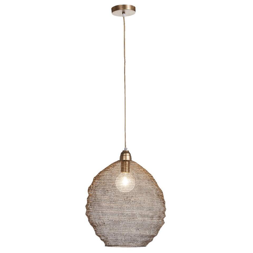 Leen Bakker Hanglampen.Hanglamp Niels Bronskleur O38 Cm