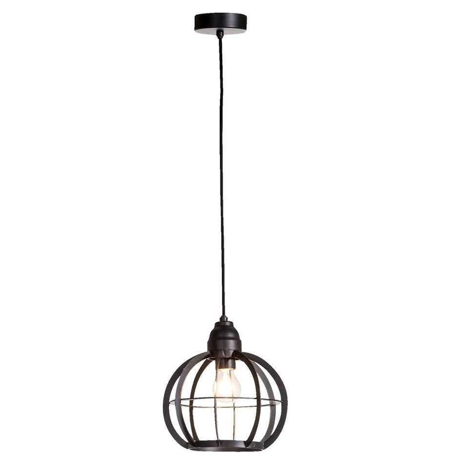 Leen Bakker Hanglampen.Hanglamp Xander Mat Zwart O23 Cm