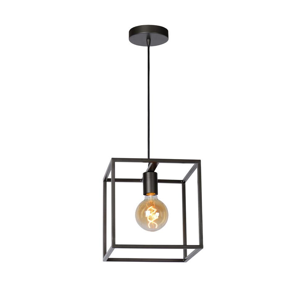Met Lucide hanglamp Arthur creëer je een stoere sfeer in huis. De lamp is grijs en gemaakt van metaal en heeft een afmeting  van 25 cm. In deze lamp passen lichtbronnen met een E27 fitting (grote fitting).