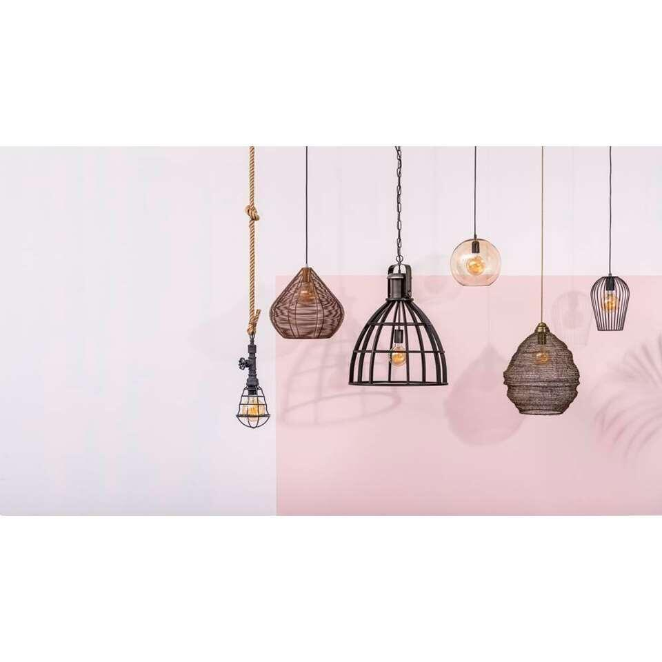 Hanglamp Thom - zwart - 65x47 cm - Leen Bakker