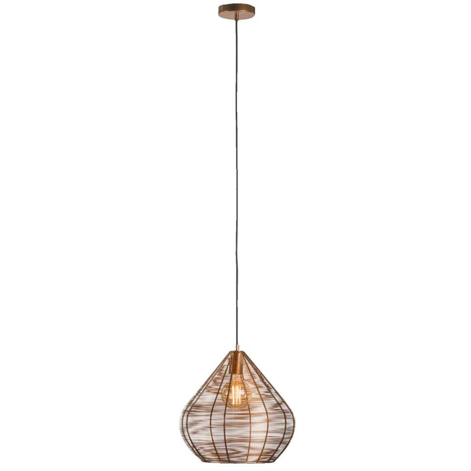 Hanglamp Vienne - koperkleur - 36x38 cm