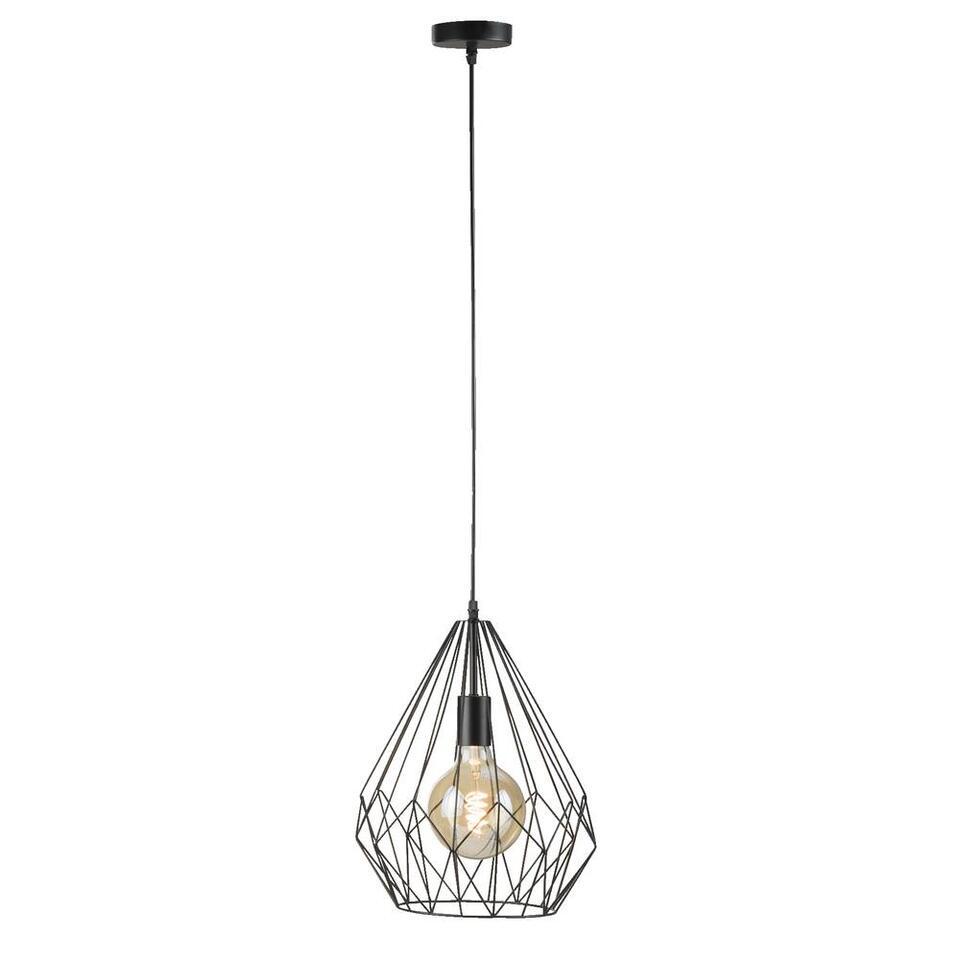 Hanglamp Marnix - zwart - 150x30 cm