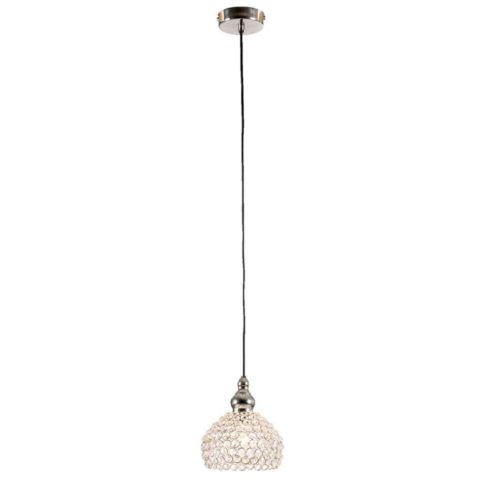 Hanglamp Imme - nikkelkleur - 17x19 cm