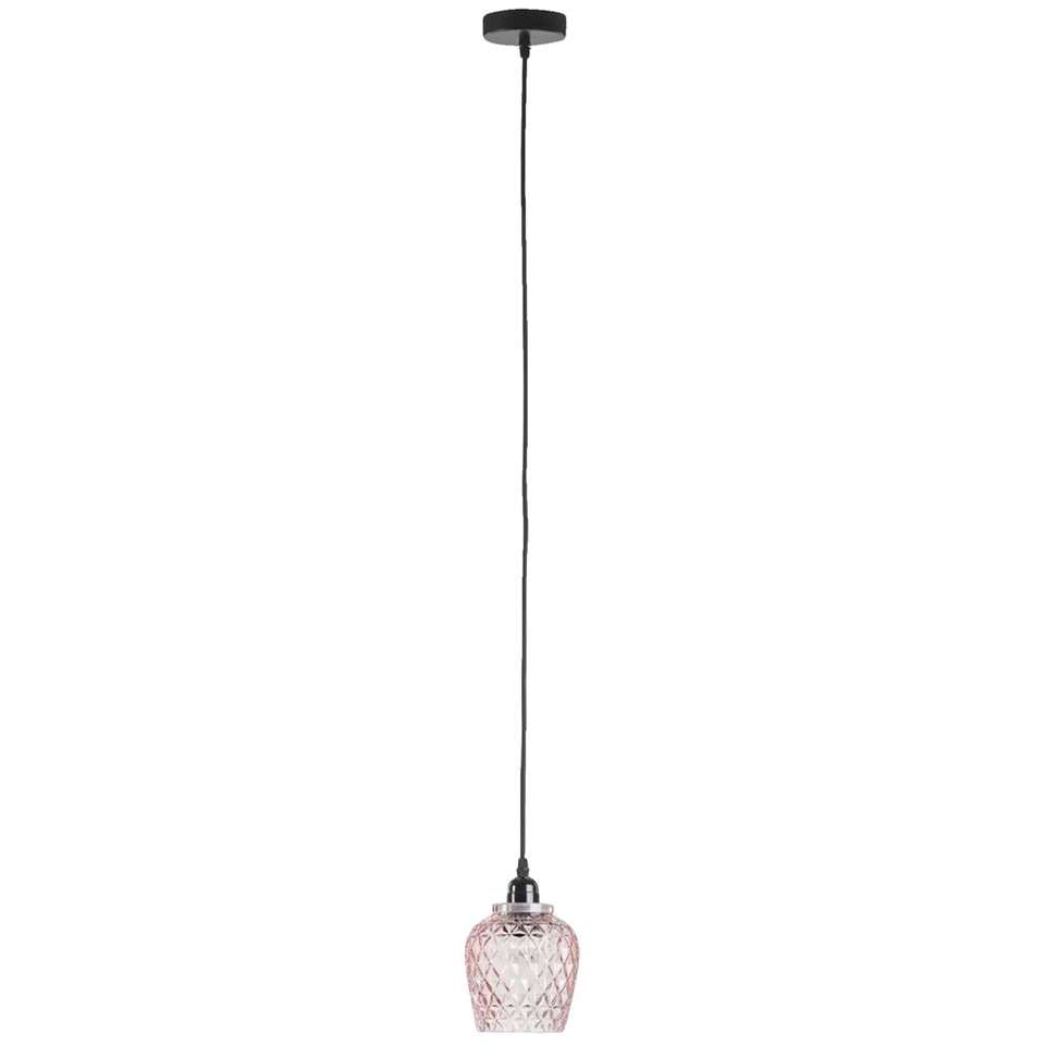 Hanglamp Roos - roze - Ø13x24 cm - Leen Bakker