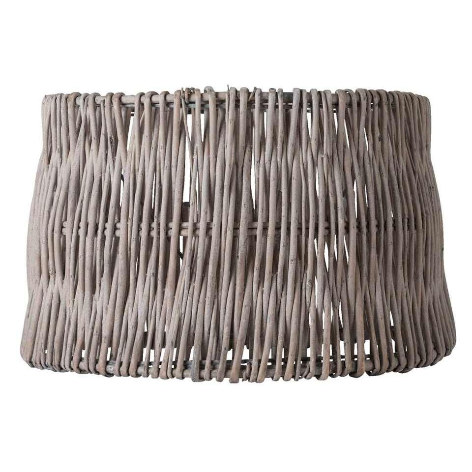 Lampenkap Sanne is bruin van kleur en heeft een natuurlijke look omdat deze kap is gemaakt van rotan. Met verlichting creëer je een sfeer in huis.