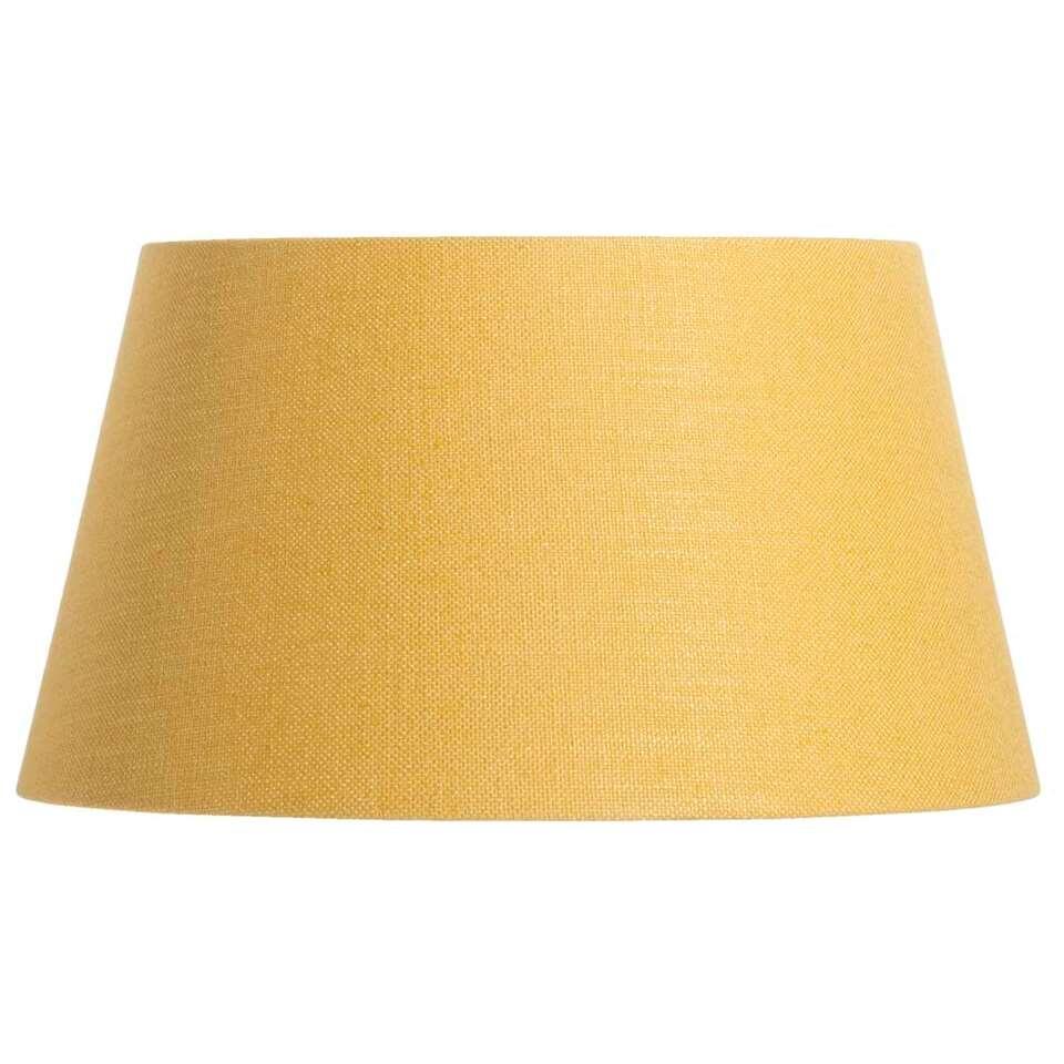 Met deze prachtige lampenkap Lika creëer je sfeervolle verlichting in je huis. Lika is er in een mooie okergele kleur en is gemaakt van stof.
