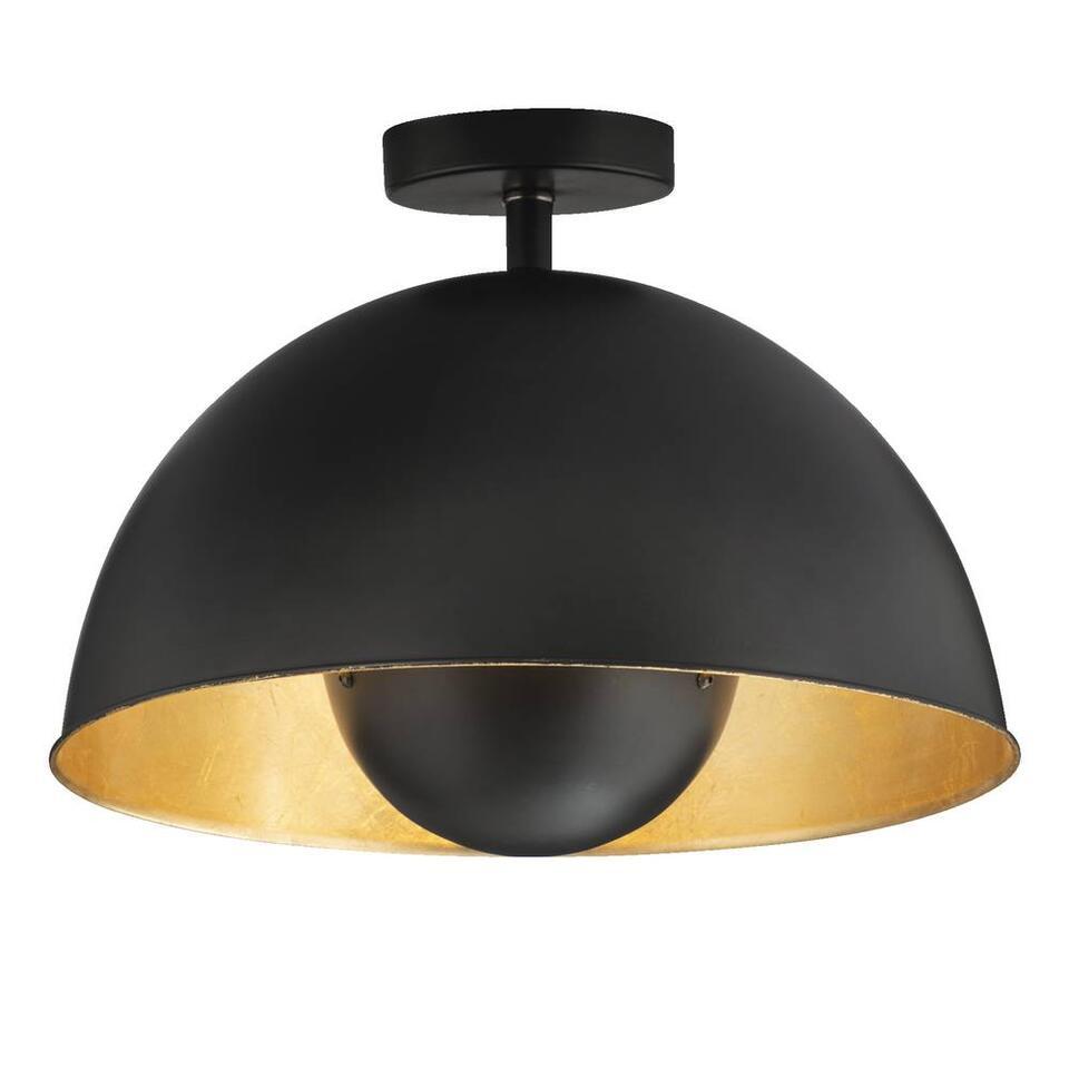 Plafonniere Brugge - goudkleur/zwart