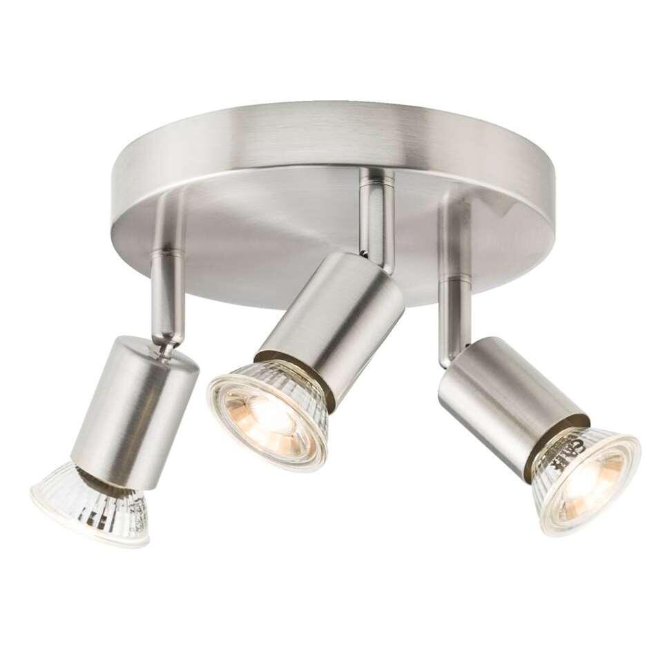 3-spot Basic is een zilverkleurige spot met een industriële en stoere look geschikt voor 3 lichtbronnen. Deze spot is heel handig als je bepaalde plekken of een bepaald item in huis sfeervol wilt aanlichten.