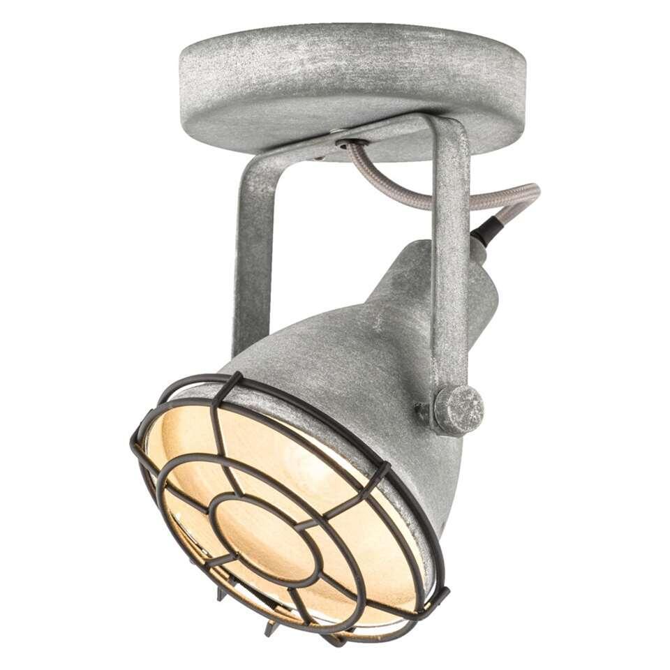 1-spot Do heeft een stoere en industriële cementkleur. Dit spotje is geschikt voor één lichtbron met een maximaal vermogen van 25 Watt.