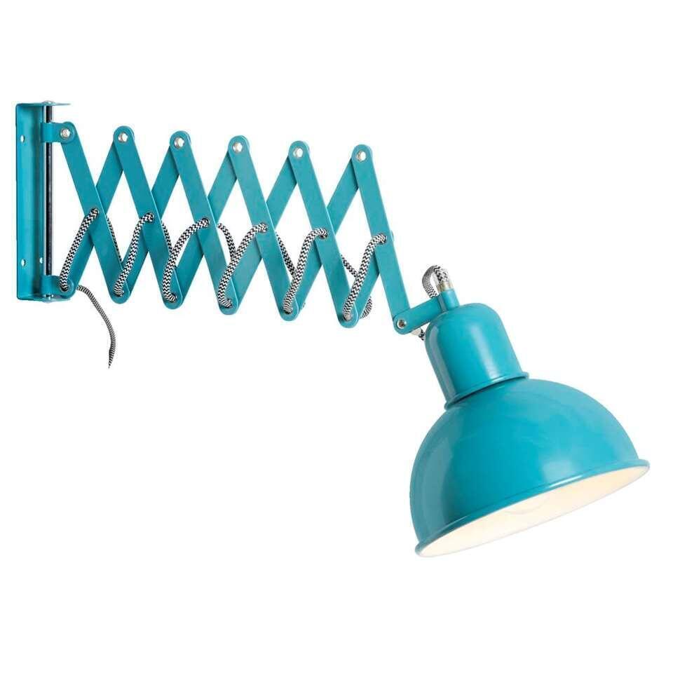 Wandlamp Edgar - turquoise - Leen Bakker