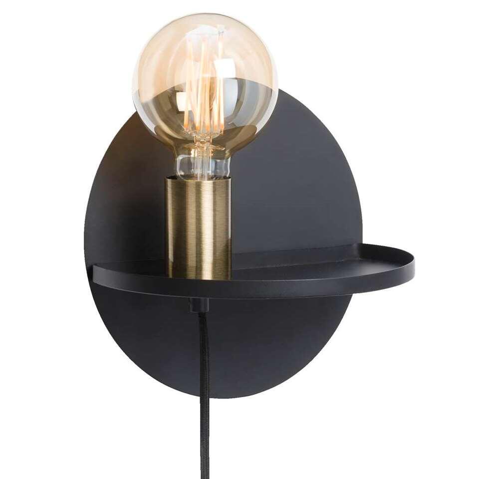 Wandlamp Berlijn - zwart - Ø22x17 cm - Leen Bakker