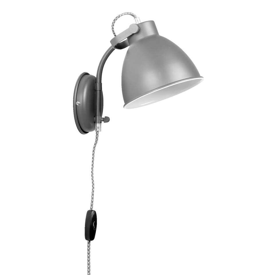 Wandlamp John - lichtgrijs - Leen Bakker