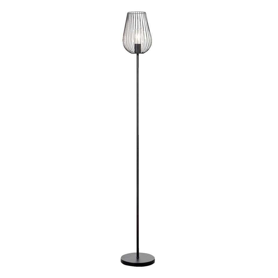 Vloerlamp Lagos Mat Zwart 165 Cm