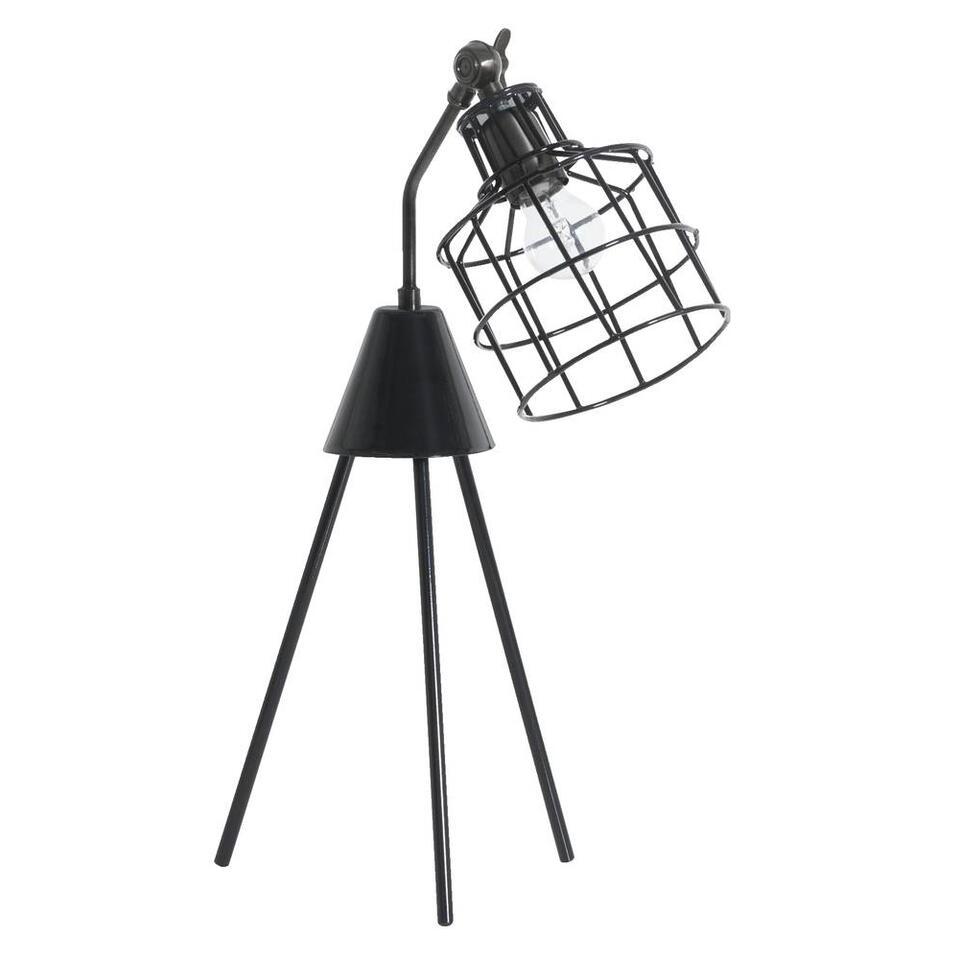 Tafellamp Nick - zwart - Leen Bakker