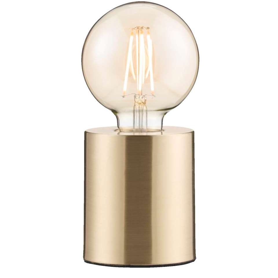 Tafellamp Chicago – goudkleurig – Ø9×10,5 cm – Leen Bakker