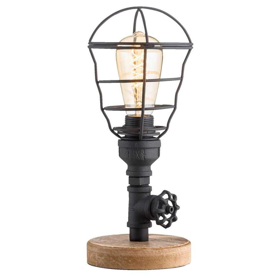 Tafellamp James - zwart - 201xØ14 cm - Leen Bakker