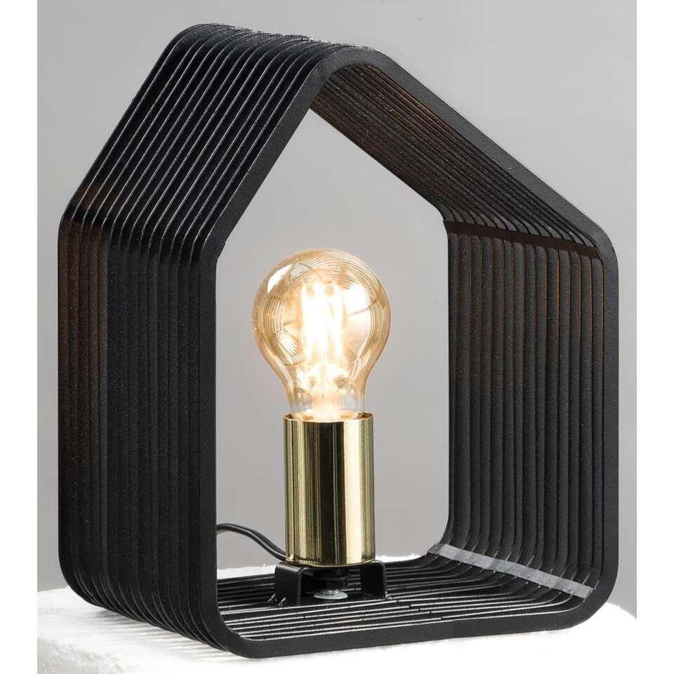 Tafellamp Auckland – zwart – 20x14x25 cm – Leen Bakker