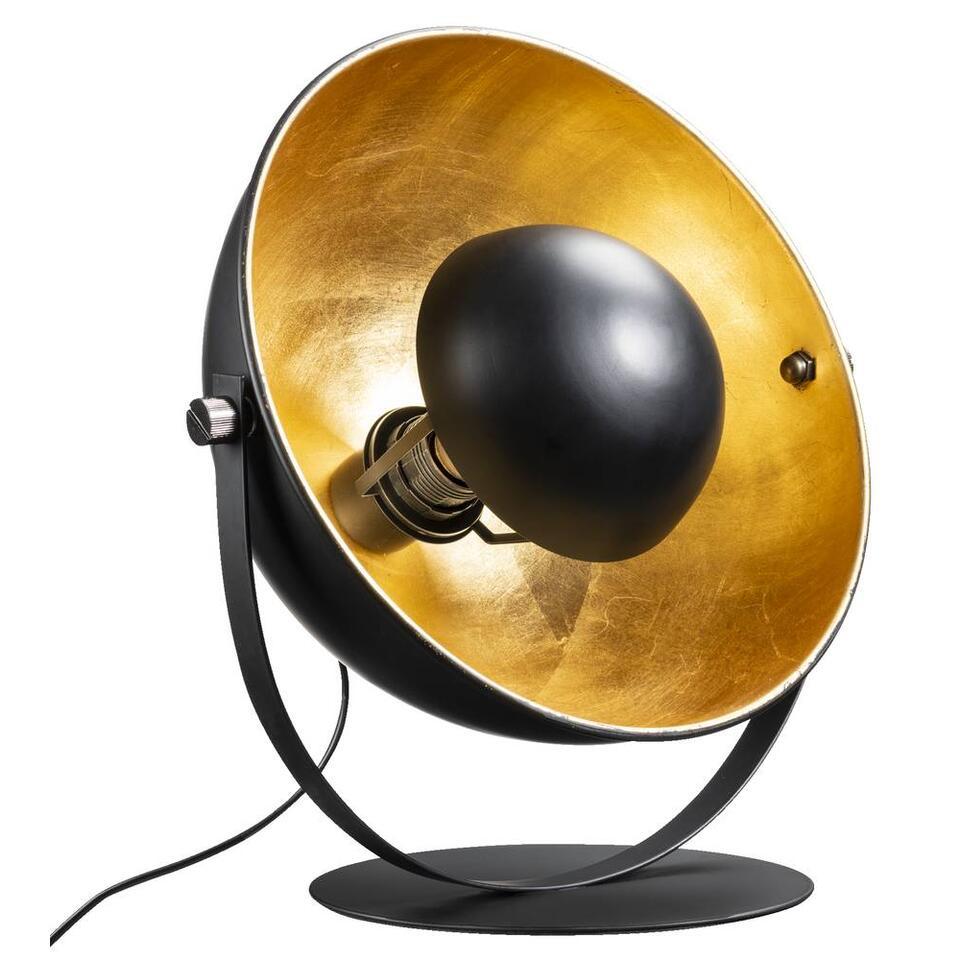 Tafellamp Brugge - goudkleurig/zwart - 35x27x30 cm