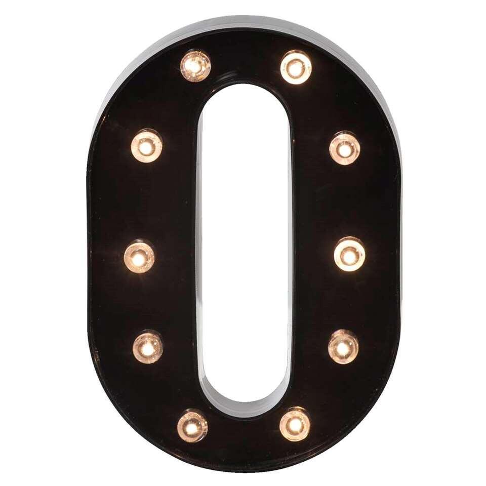 Letterlamp O – zwart – 22 – Leen Bakker