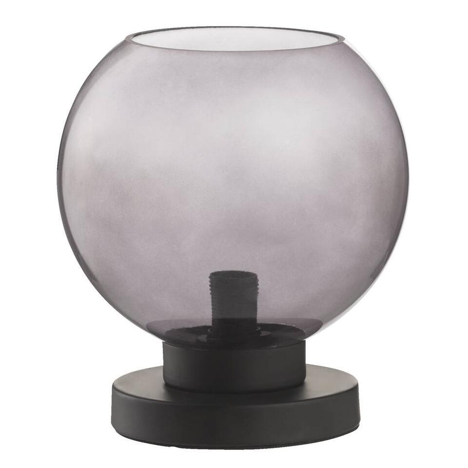 Tafellamp Milaan - grijs - Ø22x26 cm - Leen Bakker