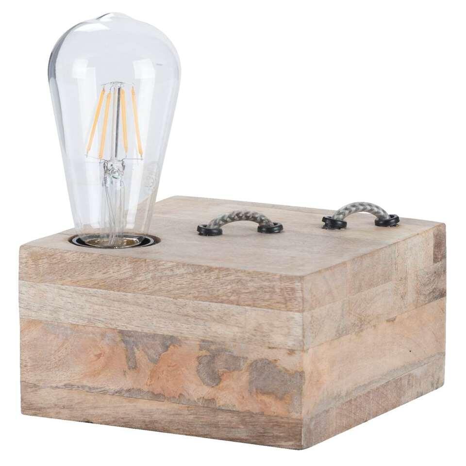 Tafellamp Jurre - bruin - 15x15x9 cm - Leen Bakker