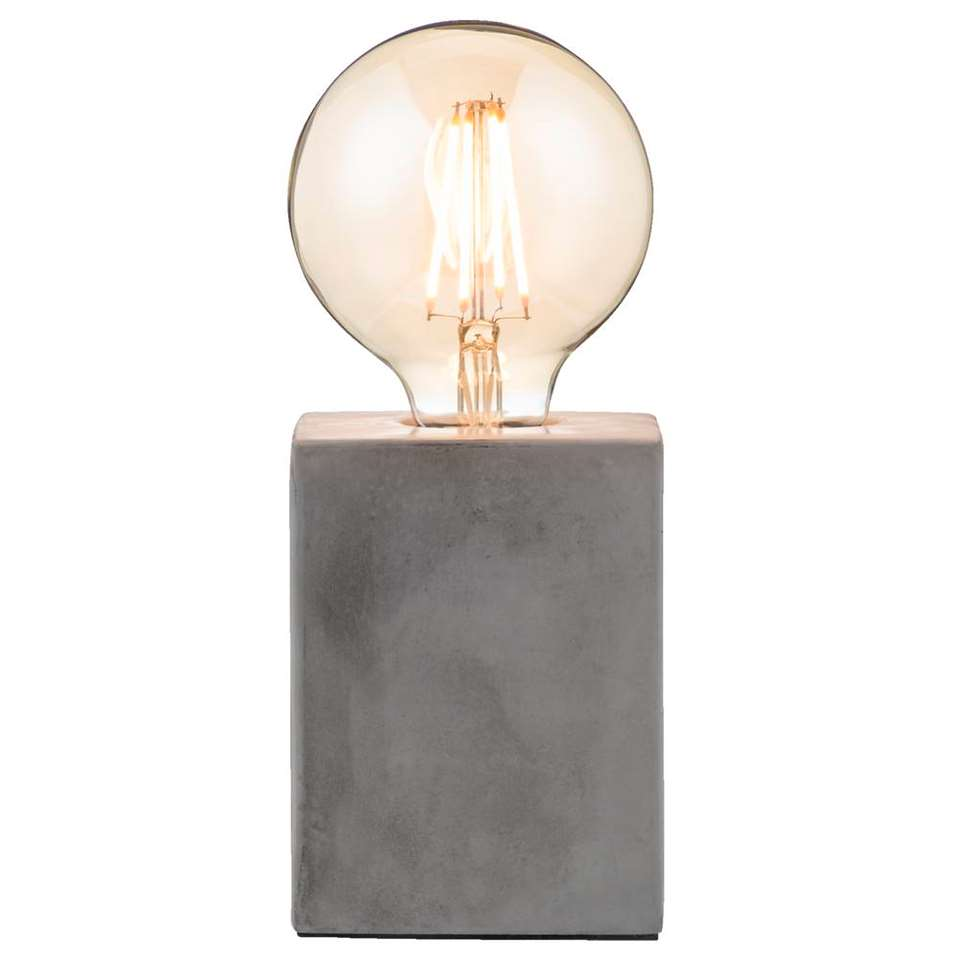 Tafellamp Vintage - grijs - 13x9,5x9,5 cm - Leen Bakker