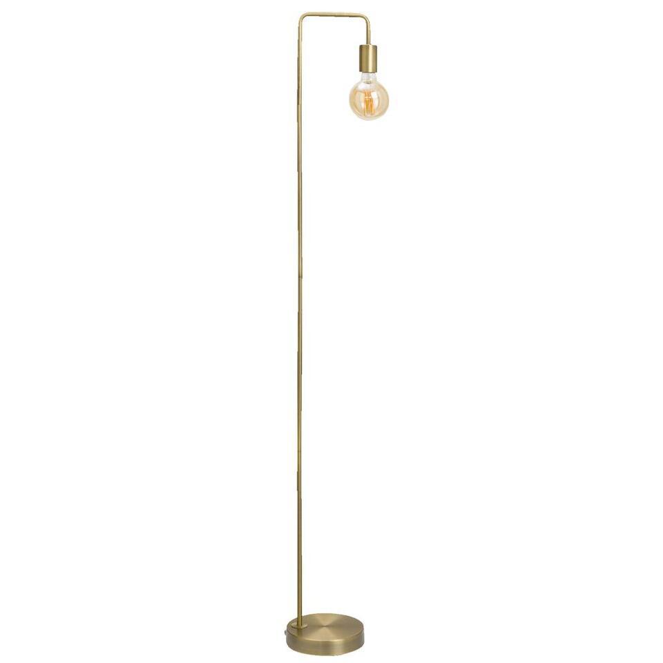 Vloerlamp Grieg – bronskleurig – 145x18x22 cm – Leen Bakker