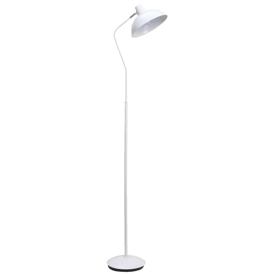 Vloerlamp Aken - wit - 155x23x32 cm - Leen Bakker