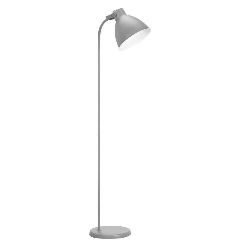 Vloerlamp John - lichtgrijs - Leen Bakker