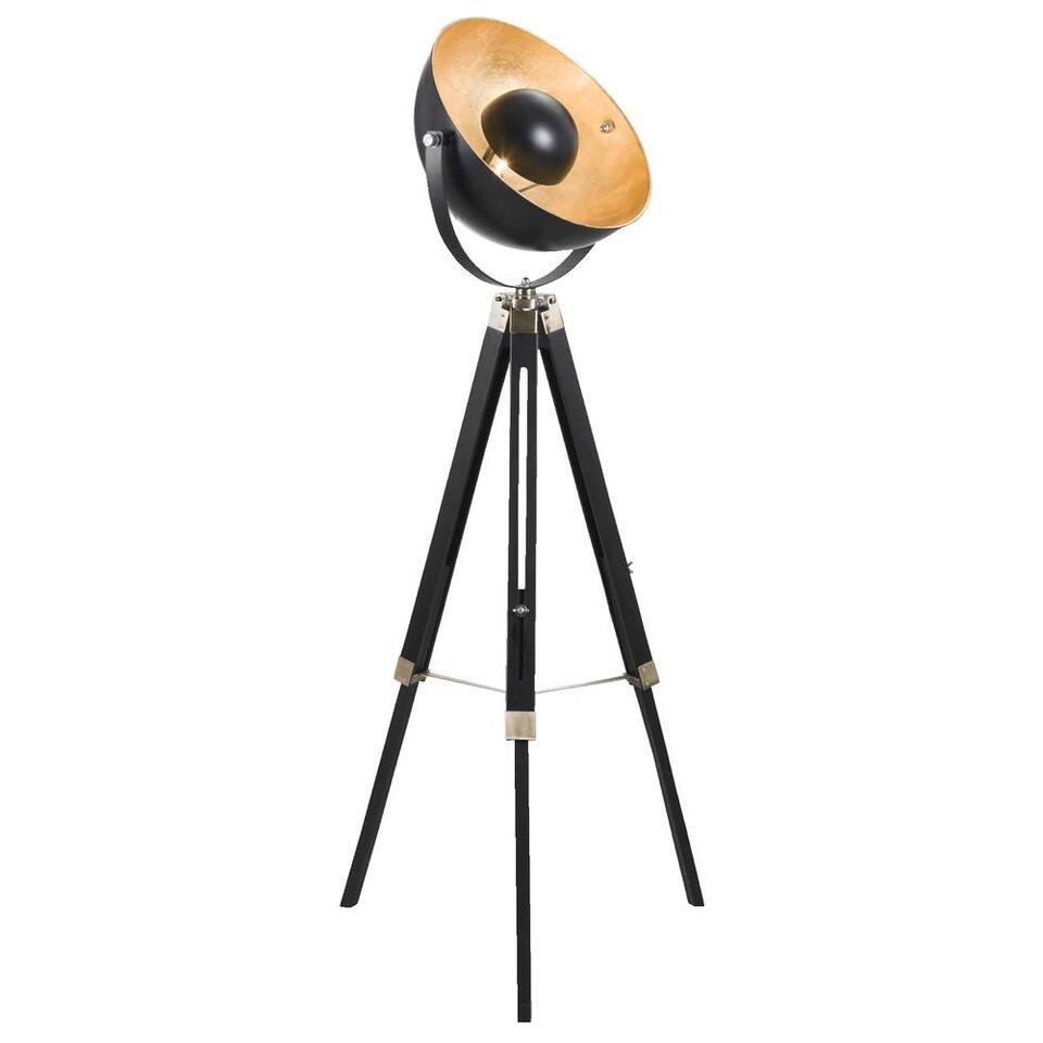 Vloerlamp Brugge - goudkleurig/zwart - 155 cm - Leen Bakker