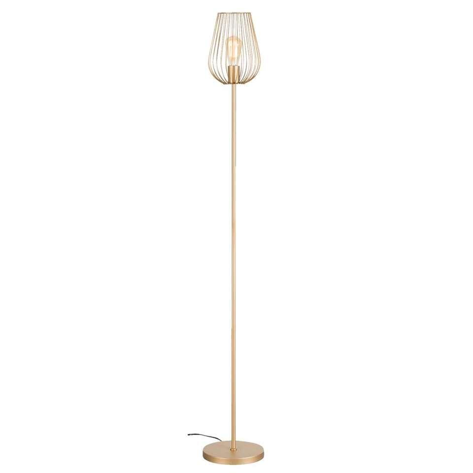 Vloerlamp Lagos – goudkleurig – Ø23×165 cm – Leen Bakker