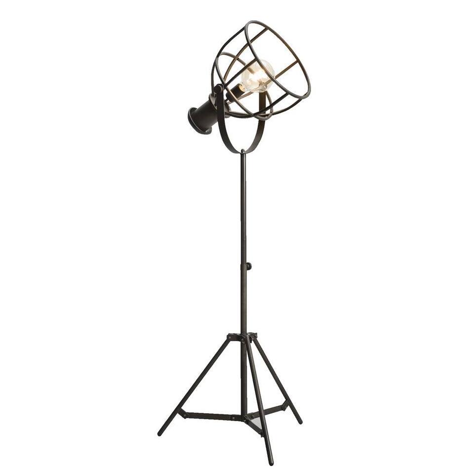 Vloerlamp Thom - antiek zwart - 59x165 cm