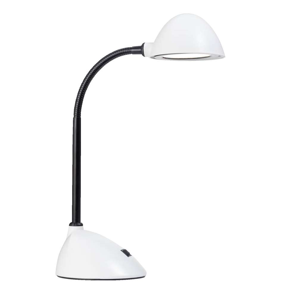 Bureaulamp Boston - wit - 30,5xØ13,5 cm