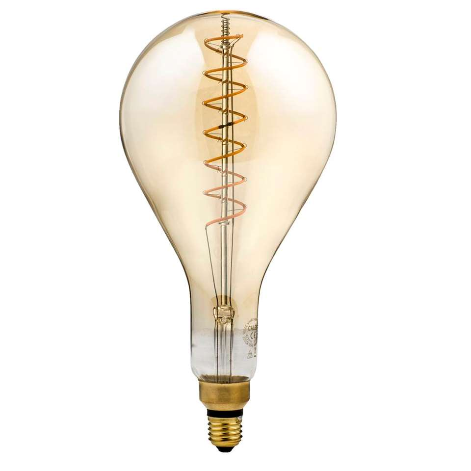 Calex LED volglas filament Splash E27 - goud