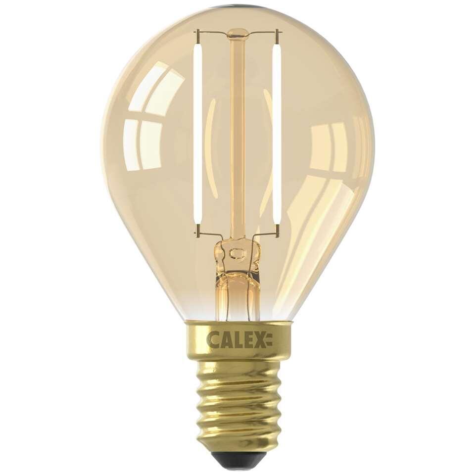 Calex LED kogellamp 240V 2W E14 - goud