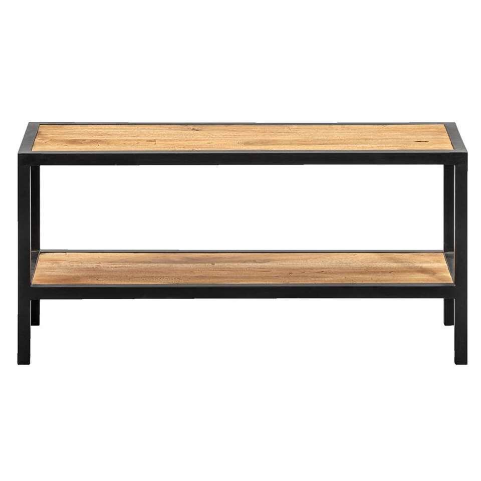 Schoenenrek Gijs - naturel/zwart - 33x70x25 cm